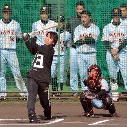 昨年のキャンプでは巨人の臨時コーチを務めた(C)日刊ゲンダイ