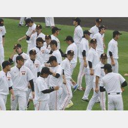 """巨人の選手への""""抑止力""""になるのか(C)日刊ゲンダイ"""