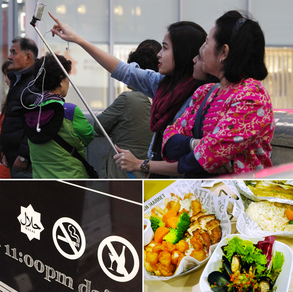 (下2点)マレーシアのハラル認証、豚肉を一切未使用のメニュー(C)日刊ゲンダイ