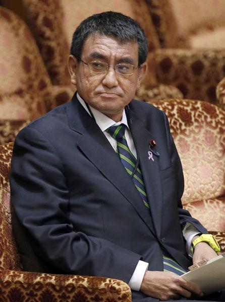 河野行革担当相(C)日刊ゲンダイ