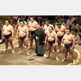 相撲業界は封建社会…(中央は北の湖理事長)
