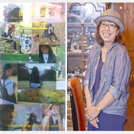 10年ほど休業して活動再開した熊谷幸子さん(左は主題歌のジャケット)