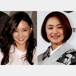 倉科カナ(左)と上村愛子