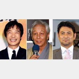 左から堺雅人、近藤正臣、藤本隆宏(C)日刊ゲンダイ