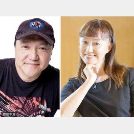「劇団☆新感線」主宰者いのうえひでのり(左)と森奈みはる(C)日刊ゲンダイ