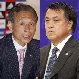 一騎打ちが予想される原博実氏(左)と田嶋幸三氏(C)日刊ゲンダイ