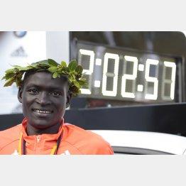 マラソン世界記録保持者はケニアのキメット(C)日刊ゲンダイ