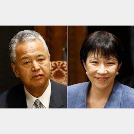甘利大臣(左)と高市大臣(右)は責任のなすり合い(C)日刊ゲンダイ