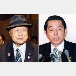 森喜朗元首相(左)と山口敏夫元労相(C)日刊ゲンダイ