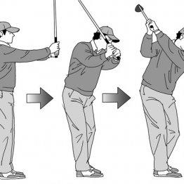 胸の高さからスイングを始めると正しいトップが簡単につくれる