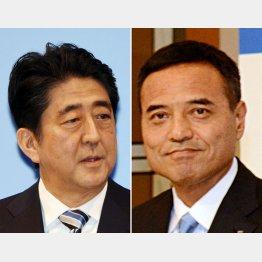 安倍首相と新浪剛史氏