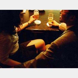 """酒の席で女性社員の手を触るのは""""計算ずく""""の行動だった(C)日刊ゲンダイ"""