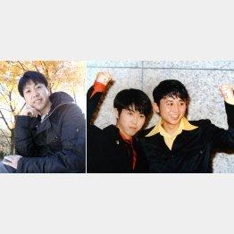 「猿岩石」時代のふたり(右写真、左が森脇和成)(C)日刊ゲンダイ