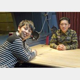 屋敷裕政(左)と嶋佐和也(C)日刊ゲンダイ
