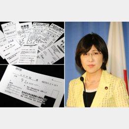 2万円の領収書が堂々と貼られていた(C)日刊ゲンダイ
