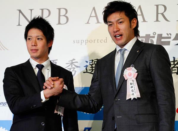 山田(左)と柳田はそろってMVPに選ばれた(C)日刊ゲンダイ