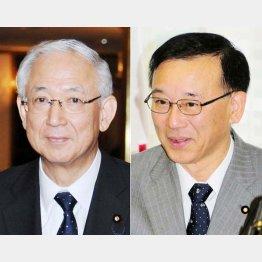 密室の茶番劇(自民・谷垣(右)、公明・井上の両幹事長)