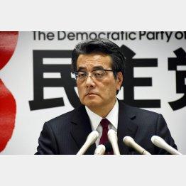 野党共闘を拒む民主党の岡田代表(C)日刊ゲンダイ