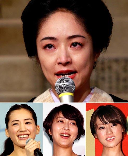 井上真央(上)と左下から綾瀬はるか、松たか子、深田恭子(C)日刊ゲンダイ