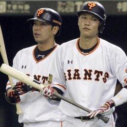 坂本(右)と阿部はウカウカしていられない