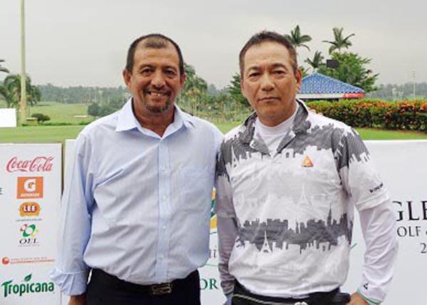 チュアン会長(左)は命の恩人(提供写真)