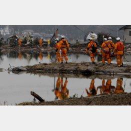 東日本大震災では各地の隊員が応援に入った(C)日刊ゲンダイ