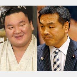 馳大臣にもアピールした白鵬(C)日刊ゲンダイ