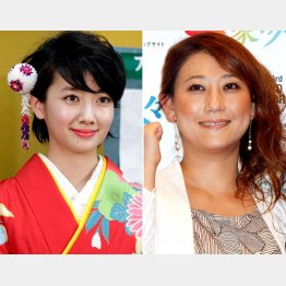 司会の波瑠(左)と友近(C)日刊ゲンダイ