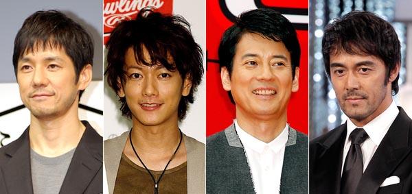 TBSドラマで主演した西島秀俊、佐藤健、唐沢寿明、阿部寛(左から)/(C)日刊ゲンダイ