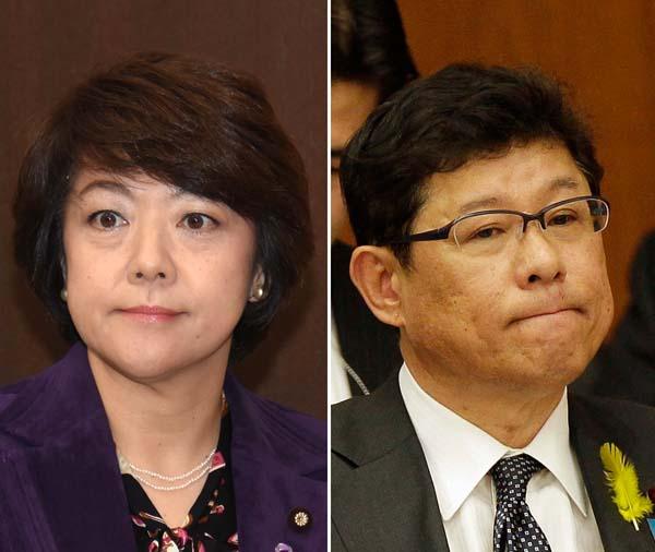島尻沖縄相(左)と高木復興相(C)日刊ゲンダイ