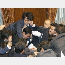 NHKが実況中継し、スタジオで解説した9月17日の参院特別委(C)日刊ゲンダイ