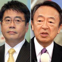 大越健介(左)と池上彰