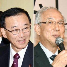 自民党の谷垣禎一幹事長(左)と公明党の井上義久幹事長(C)日刊ゲンダイ