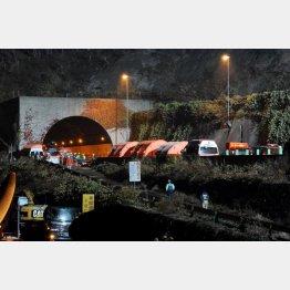 崩落事故のあった笹子トンネル
