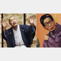 三遊亭究斗(左)と円丈師匠(C)日刊ゲンダイ