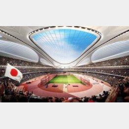 日本の対応次第では法廷闘争も(写真はザハ案)/(日本スポーツ振興センター提供)