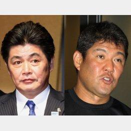 野球殿堂入りが決まった工藤公康氏(左)と斎藤雅樹氏(C)日刊ゲンダイ