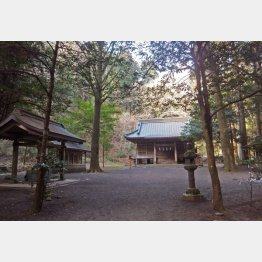 「七人の侍」のロケ地となった二岡神社