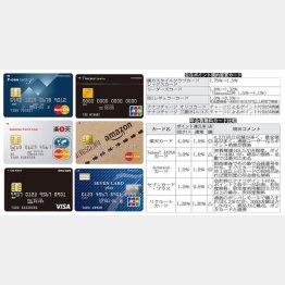 クレジットカードのポイント比較(C)日刊ゲンダイ