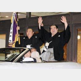 日本出身力士として10年ぶりの優勝を果たした琴奨菊(C)日刊ゲンダイ