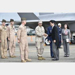 14年の自衛隊航空観閲式で(C)日刊ゲンダイ