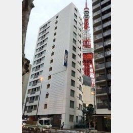 清原容疑者が住んでいた高級マンション(C)日刊ゲンダイ