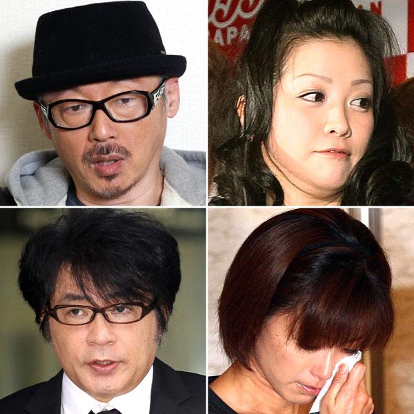 田代まさし、小向美奈子、酒井法子、ASKA(C)日刊ゲンダイ