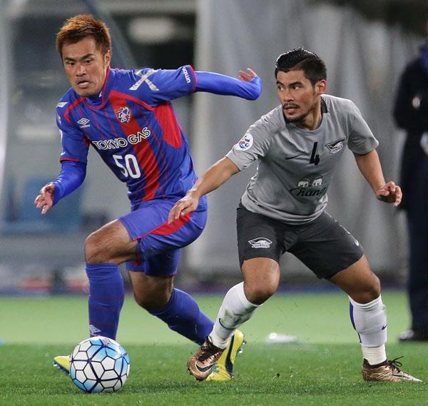 新天地FC東京で好調アピール(C)六川則夫/ラ・ストラーダ