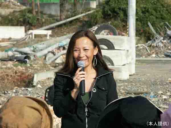 2011年5月16日、南三陸町で(提供写真)