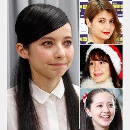 (左から)ベッキー、マギー、トリンドル玲奈、春香クリスティーン(C)日刊ゲンダイ