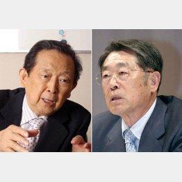 旧セゾングループの総帥・清二氏(左)と買っては世界の大富豪だった義明氏/(C)日刊ゲンダイ
