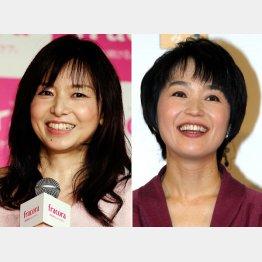 山口智子(左)と小野文惠/(C)日刊ゲンダイ