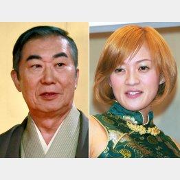 桂文枝(左)と紫艶/(C)日刊ゲンダイ