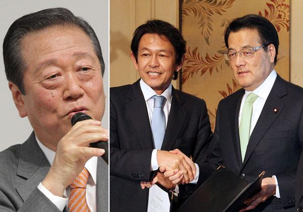 小沢一郎氏(左)は新党に合流するのか(C)日刊ゲンダイ